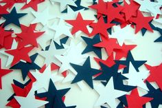 A personal favorite from my Etsy shop https://www.etsy.com/ca/listing/271179798/100-pieces-of-star-spangled-hand-punched