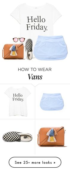 """hello Friday I've been waiting for you for along time"" by ava-lindsey on Polyvore featuring MANGO, Vans, lululemon, Illesteva and Rebecca Minkoff"