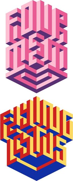 Isometric Typography by Maxim Tictac: