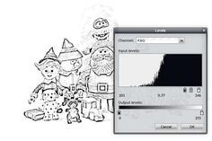 Follow these easy steps to remove color from photos so they can be colored later.