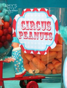 carnival birthday party | circus carnival birthday party ideas candy bar circus peanuts