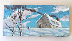 A personal favorite from my Etsy shop https://www.etsy.com/listing/524972486/landscape-painting-birch-trees-cabin
