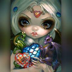 """Dragon Hearts"" Original Acrylic Painting"