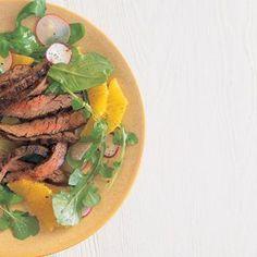 Skirt Steak Salad with Oranges and Arugula