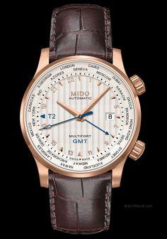 Mido - Multifort 80th Anniversary GMT Edition. An invitation to travel in celebration of the Multifort's 80th anniversary.