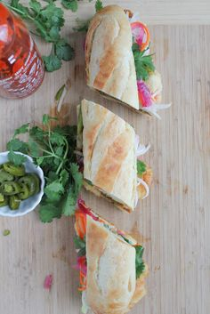 Shrimp Tempura Banh Mi . . a delicious twist on one of your favorite Vietnamese sandwiches! #vietnamese #banhmi