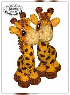 Вязаные жирафики - Игрушки ручной работы