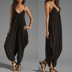 The Bohemian Chic Sleeveless Loose Fit Jumpsuit is a plus size jump suit for sizes 18 to 28. Shop for this style and more sexy plus size clothing at Kami Shade.