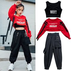 Hip Hop Dance Outfits, Swag Outfits For Girls, Cute Girl Outfits, Teenager Outfits, Girly Outfits, Trendy Outfits, Kids Outfits, Kpop Fashion Outfits, Girls Fashion Clothes