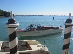 Arriving in style at the Hotel Cipriani, Venice