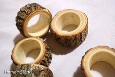 Wooden napkin rings.