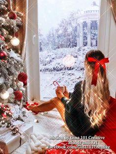 Christmas Tree Gif, Winter Christmas Scenes, Christmas Scenery, Christmas Music, Christmas Images, Christmas Greetings, Animated Christmas Pictures, Christmas Time, Vintage Christmas