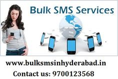 Searching for Bulk SMS Service in Hyderabad? We are here to provide you Bulk SMS Services. We are best Bulk SMS Service Providers in Hyderabad. If you want to know more details about our services you just visit our website which is www.bulksmsinhyderabad.in or contact on this nub 9700123568.