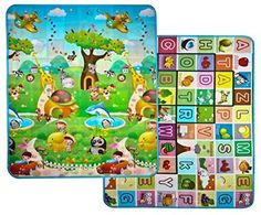 """Amazon.com : SiCoHome Baby Play Mat, Thin, Easy To Clean and Carry, Security Material Baby Play Mat, Folding with Creases, Flexible and Soft Organic Play Mat(70""""X47""""X0.2"""") : Baby"""