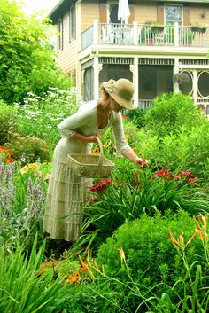 Carolyn Aiken in her garden...Time spent in the garden is never wasted...