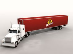 18 Wheeler Series Papercraft : Peterbilt 379 Semi Truck and Borden Trailer