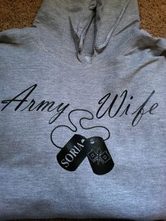 Army wife hoodie by married2themilitary on Etsy, $55.00