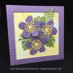 Love the flowers. Stampin Up 5x5 card.
