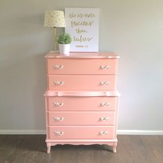 141 best pink dresser images painted furniture pink chest of rh pinterest com