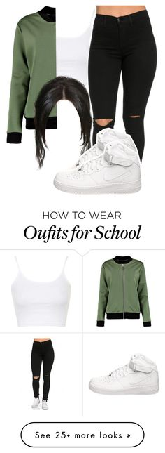 """School-Me"" by janicegraziaa on Polyvore featuring Topshop and NIKE"