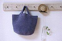 シンプル丸底バッグ_かぎ針編み