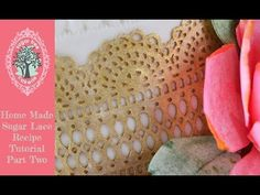 Sugar Lace - How to dry,release from the mat and store. This is the second part to the popular home made sugar lace recipe video that can be found on our cha. Cookie Decorating, Decorating Cakes, Edible Lace, Sugar Lace, Icing Tips, Cake Craft, Fondant, Wedding Menu, Cake Tutorial