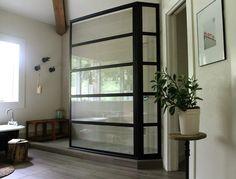 Steel Framed Shower panel...LOVE!@ Make Them Wonder Blog