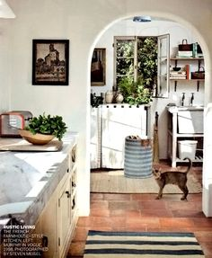 absolutely beautiful things home decor interior design ideas color and whimsy rustic french farmhouse Home, Home Kitchens, House Styles, Kitchen Remodel, House Design, Sweet Home, Interior, Kitchen Interior, House Interior