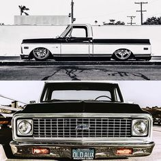 Hot Wheels - Super clean shots of @oldaux via @r_b_j , such a bad ass truck with a perfect overall look! @delmospeed @accuair #chevrolet #gmc #c10 #hotrod #streetrod #streetmachine #streettruck...