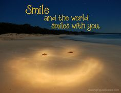 Smile and the World Smiles with You Word-Art Freebie