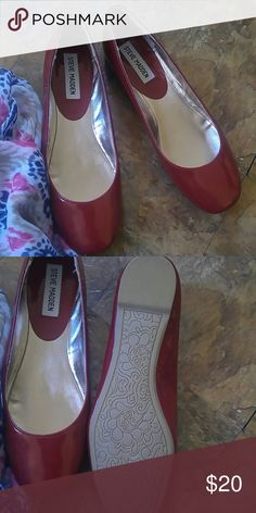 Ruby red Steve Madden flats New never worn. Superb condition  Every girl needs a pair of ruby slippers in her life Steve Madden Shoes Flats & Loafers