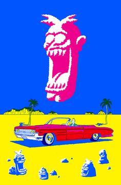 Walking Gag back cover 2014 Hip Hop Art, Art Et Illustration, Graphic Design Inspiration, Workspace Inspiration, Vintage Comics, Art Design, Art Sketchbook, Illustrations Posters, Art Inspo