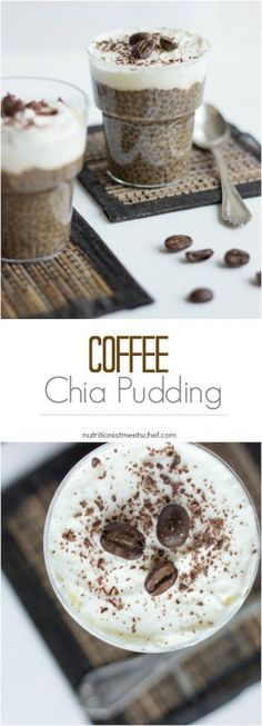Chia seeds are delicious and oh-so healthy. Throw some in your morning routine asap! Enjoy these 50 creative chia seed recipes! Pineapple Coconut Chia Pudding Refreshing and rich in tropical fla… Weight Watcher Desserts, Quick Snacks, Healthy Snacks, Healthy Recipes, Healthy Eating, Vegetarian Snacks, Protein Snacks, Yummy Snacks, Delicious Recipes