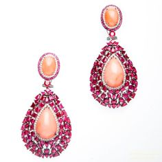 the advent of silver jewellery online shops has made things easier for the customers. Designer Silver Jewellery, Silver Jewellery Online, Ruby Jewelry, High Jewelry, Jewelry Box, Silver Jewelry, Coral Earrings, Stone Earrings, Drop Earrings