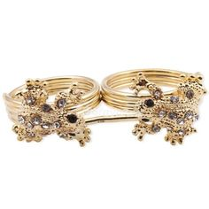Fashion Rhinestone Studded Frog Double Finger Animal Ring at Online Cheap Fashion Jewelry Store Gofavor - StyleSays