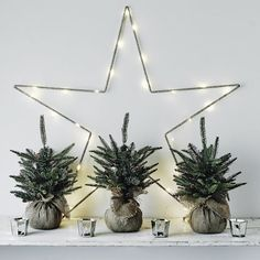 Make it an unforgettable Christmas with our gorgeous Christmas tree decorations from The White Company. Shop our xmas tree decorations and more online today. Christmas Fairy Lights, Small Christmas Trees, Christmas Room, Nordic Christmas, Noel Christmas, All Things Christmas, Winter Christmas, Christmas Crafts, Christmas Ornaments
