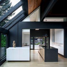 idées de cuisine moderne avec ilot et espace de rangement au ...