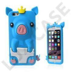Pig (Mørkeblå) iPhone 6 Cover