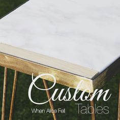 Need something for that awkward hallway? #industrialfurniture #bespoke #whenalicefell #marble #halltable #coffeetable #hairpinlegs