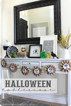 white and black halloween decor