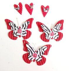 Sticker - Handgefertigte Embellishments - Schmetterlinge, ♥ - ein Designerstück von n8eulchen1979 bei DaWanda