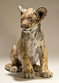 Clay Lion Sculpture - Nick Mackman