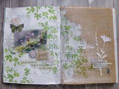 Mixed Media, Paper Crafting, Watercolour, Altered Art, and occasional Dollshouses Spring Art, Spring Green, Art Journal Pages, Art Journals, Journal Ideas, Tim Holtz Dies, Mixed Media Cards, Mixed Media Tutorials, Green Theme