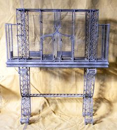 Importante gaiola Art Deco em Fer forge . França , anos 30 . Medidas : 146 X 122X 32 cm