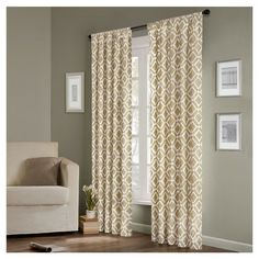 Delray Diamond Curtain Panel in Tan
