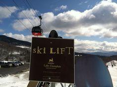 Ski sign at Stowe Mountain Resort