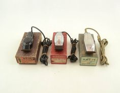 Three Vintage Barber Shop Electric Hair Clippers