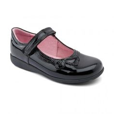 Buy Stone, Black Patent Girls Riptape School Shoes from available in a wide range of sizes and width fittings with various delivery options Girls Shoes, Kid Shoes, Leather School Shoes, Childrens Shoes, Shoe Collection, Black Patent Leather, Footwear, Stylish, Boots