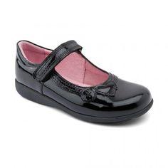 Stone, Black Patent Girls Riptape School Shoes - Girls School Shoes - Girls Shoes http://www.startriteshoes.com/girls-shoes/school-shoes/stone-black-patent