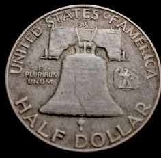 1954 Denver Franklin Silver Half Dollar